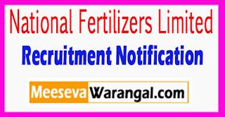 NFL National Fertilizers Limited Recruitment Notification 2017 Last Date 01-08-2017
