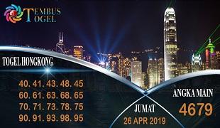 Prediksi Angka Togel Hongkong Jumat 26 April 2019