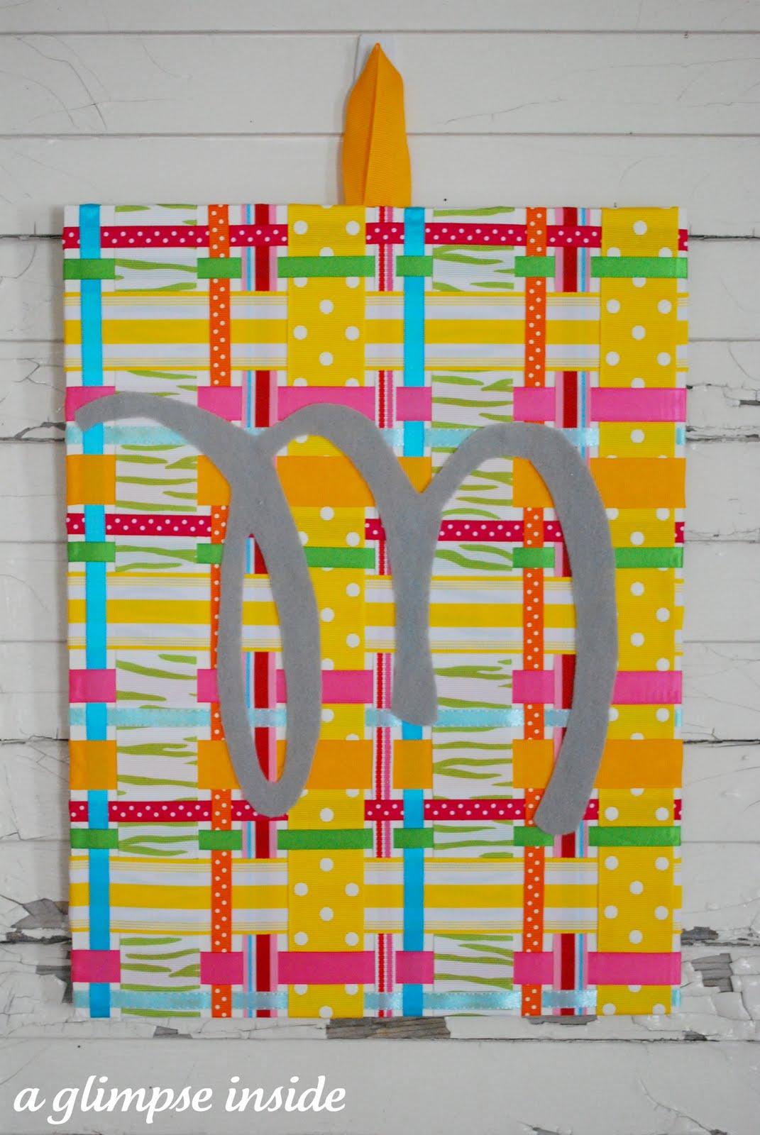 Spring Plaid Ribbon Art