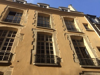 Rue Aubriot mansion frontage Paris IV