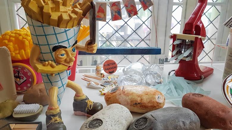 薯條博物館內的展示