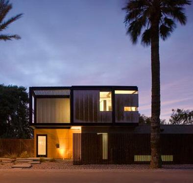 desain tampak rumah industrial minimalis