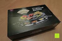 Verpackung: Andrew James – Traditioneller Raclette Grill für 8 Personen mit thermostatischer Hitzekontrolle – Inklusive 8 Raclette-Spachteln – 2 Jahre Garantie