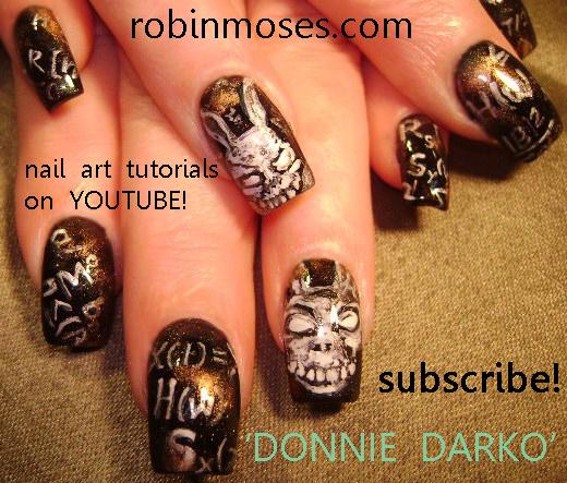 Nail Art By Robin Moses Donny Darko Donny Darko Nails Twilight