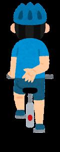 自転車の手信号のイラスト(停止2)
