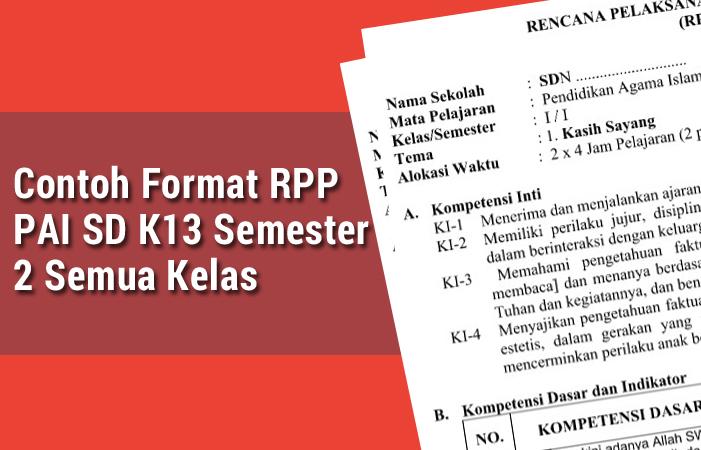 Contoh Format RPP PAI SD K13 Semester 2