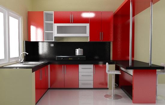Cara membuat desain interior dapur for Cara bikin kitchen set