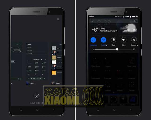 Screenshoot MIUI Theme iOS Black Update Link For MIUI Terbaru