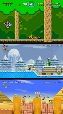 mario forest level mario ice level mario desert level