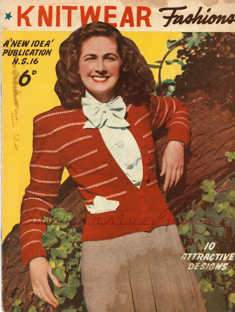 The Vintage Pattern Files : Free 1940's Knitting Pattern - High Light Cardigan
