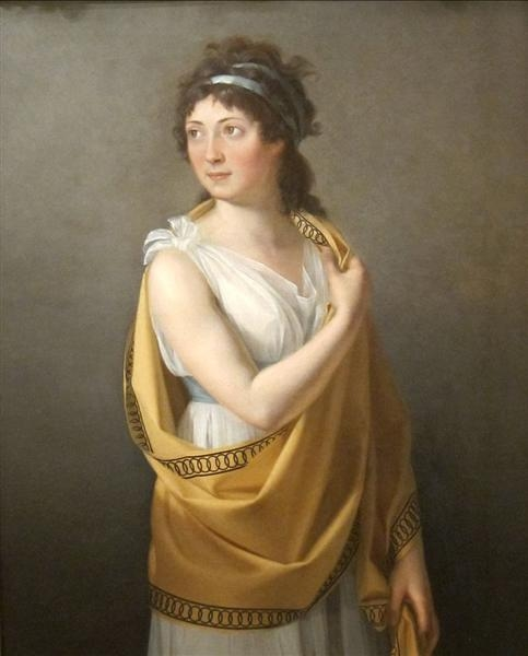 Marie-Guillemine Benoist Портрет леди