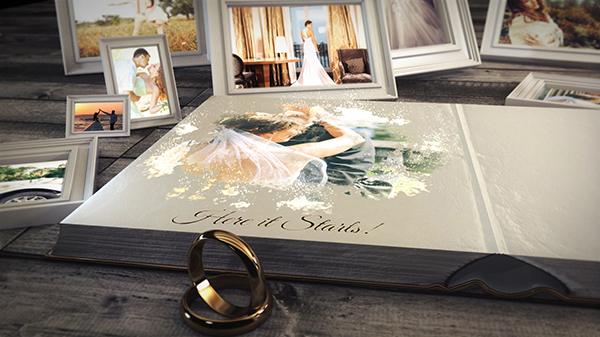 after effects template free download wedding book 2017