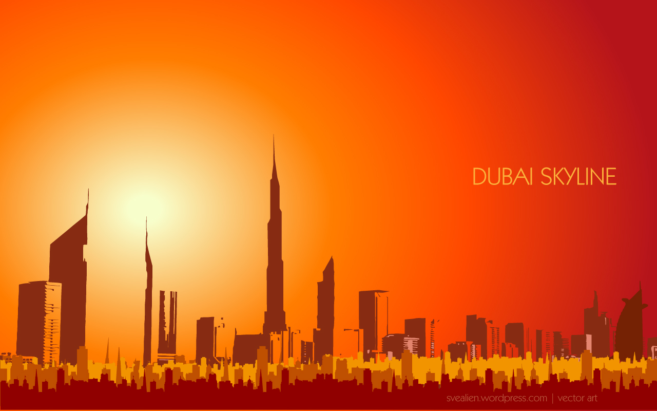 Creative Graphics Design Background: Dubai Wallpaper