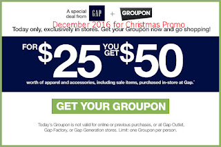 Gap coupons for december 2016