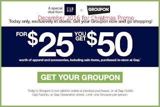 Gap coupons for december 2016
