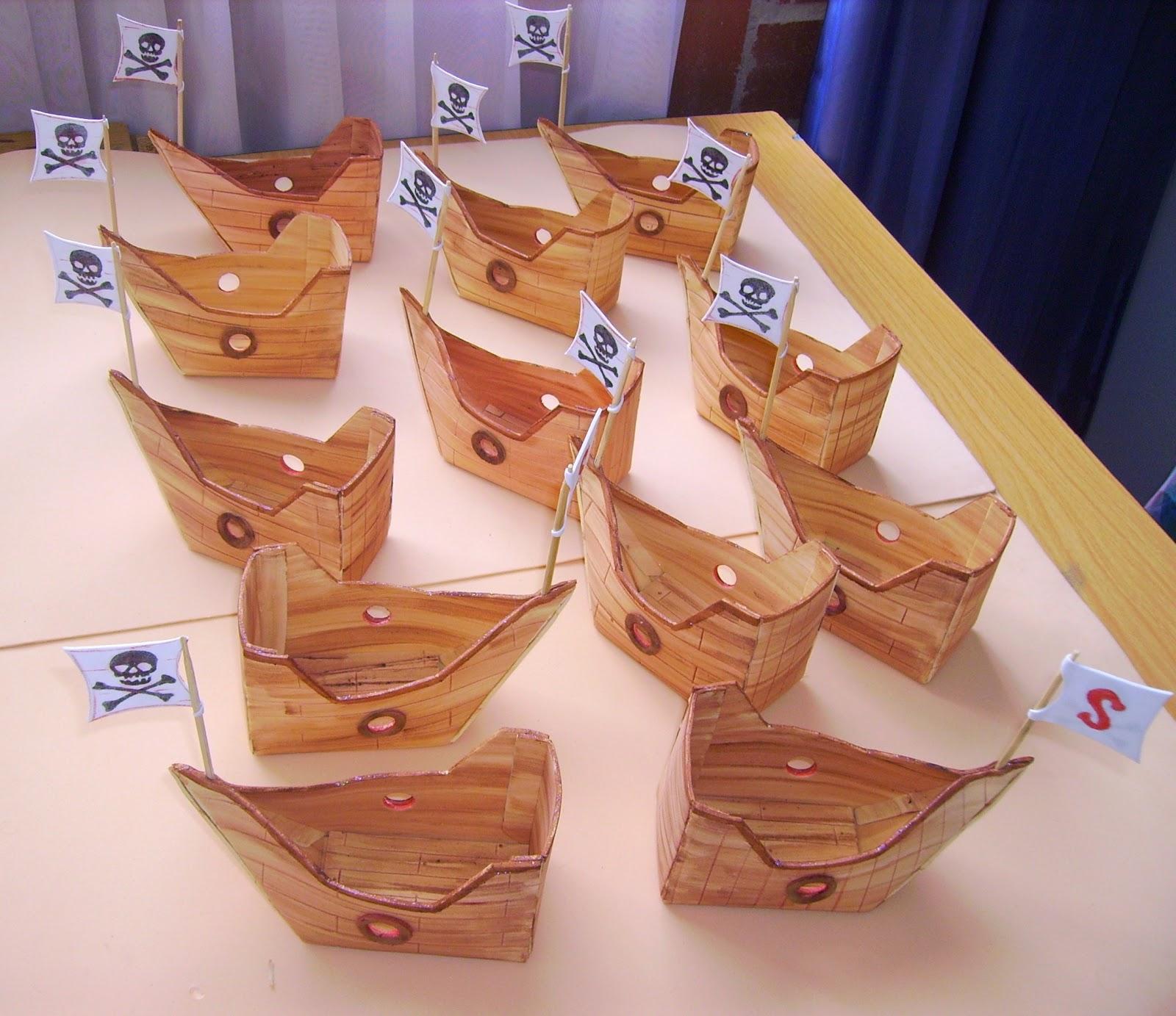 MARDEDI: Barcos Pirata - DULCEROS PARA FIESTA TEMATICA