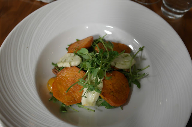 Sweet potato and haloumi salad