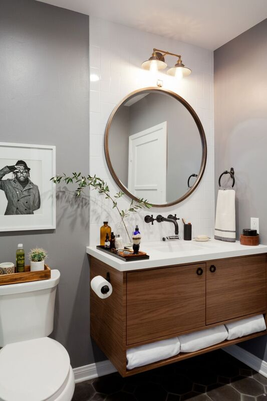 Rosa Beltran Design A HOMEPOLISH GENTLEMANS BATHROOM BEFORE Amp AFTER REVEAL