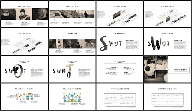 FREE 100+ Unique Slides Multi Purpose Premium Powerpoint Template 49-64