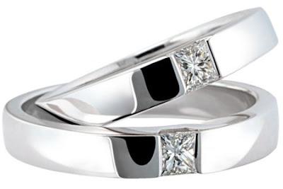 Cincin Emas Putih Mewah