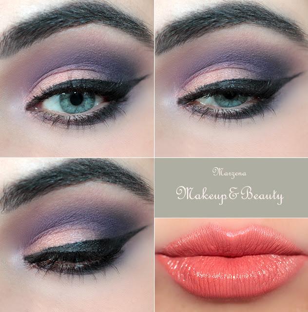 makijaż podkreślający niebieskie oczy