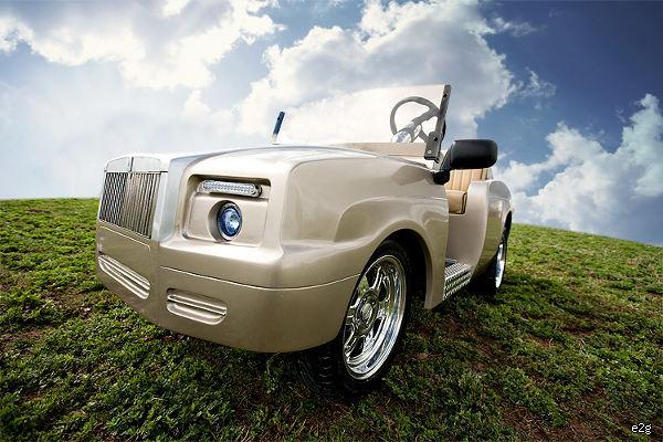 The Shadow rolls royce golf cart