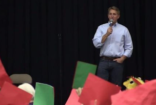 Sen. Jeff Flake Weathers Brutal, 2 1/2-Hour Mesa Town Hall