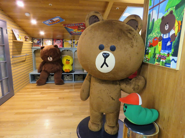 Brown, one of the Line Friends, in Seoul South Korea