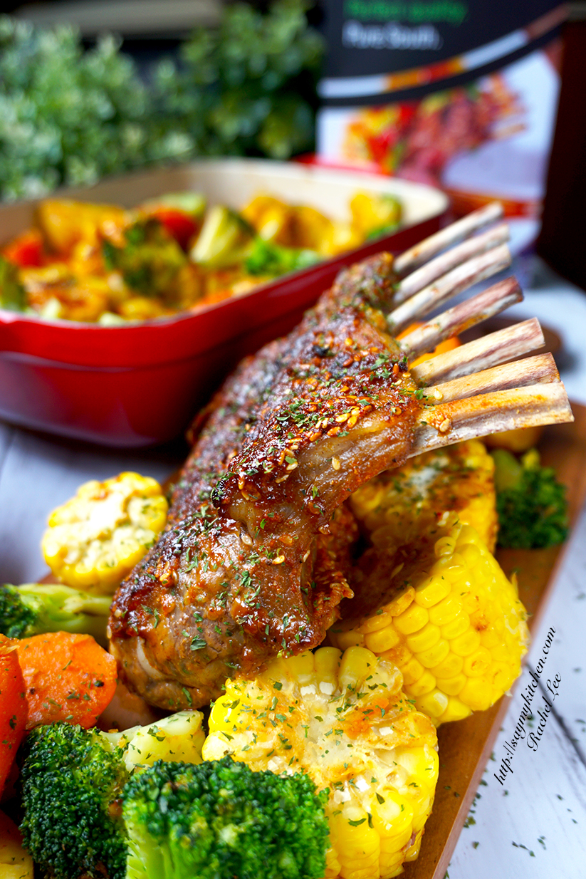 Say my kitchen mongolian roast lamb rack about pure south lamb grass fed and grown in new zealand using free range farming methods pure south lamb is tender succulent and flavourful forumfinder Choice Image