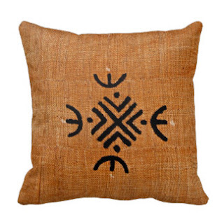 Mud cloth print throw pillow
