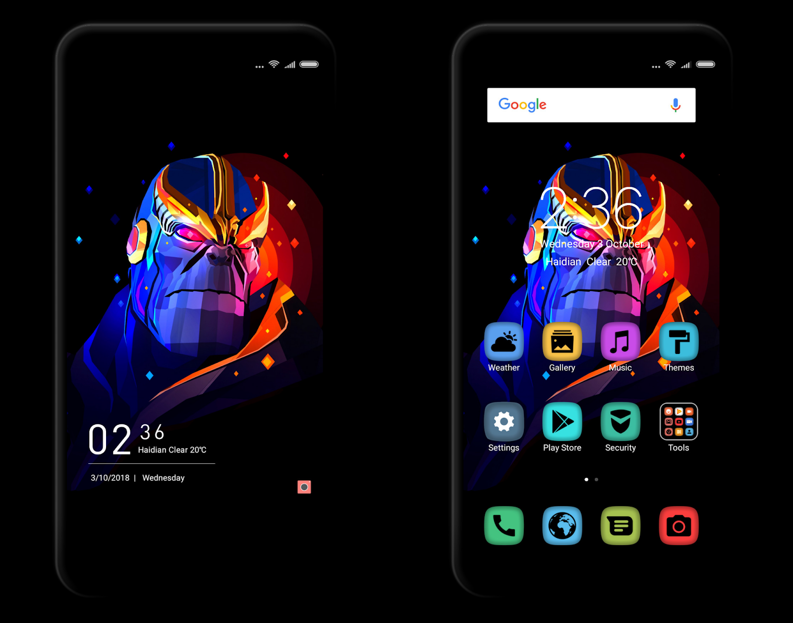 Infinity War MIUI V10 Theme MTZ Download For Xiaomi Mobile