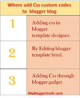 CSS code methods