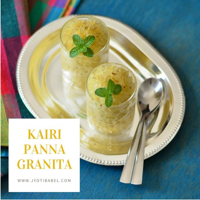 Kairi Panna Granita Recipe | Raw Mango Mint Granita