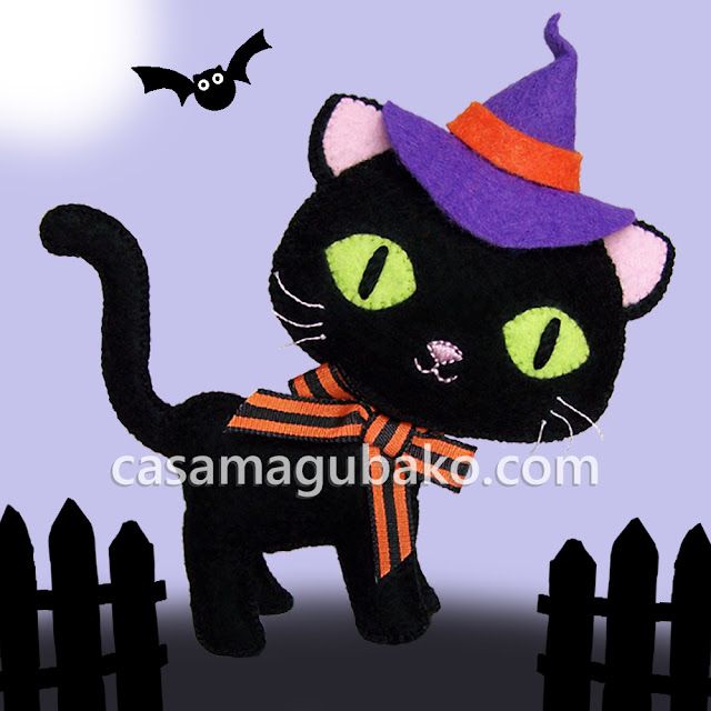 Cat Tutorial - Halloween Cat by casamagubako.com