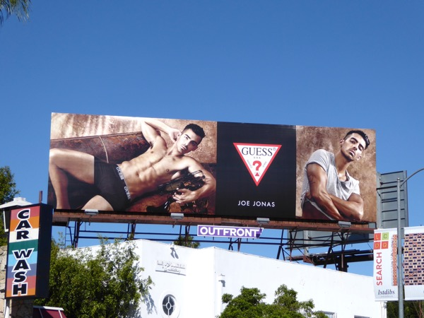 Joe Jonas Guess underwear billboard