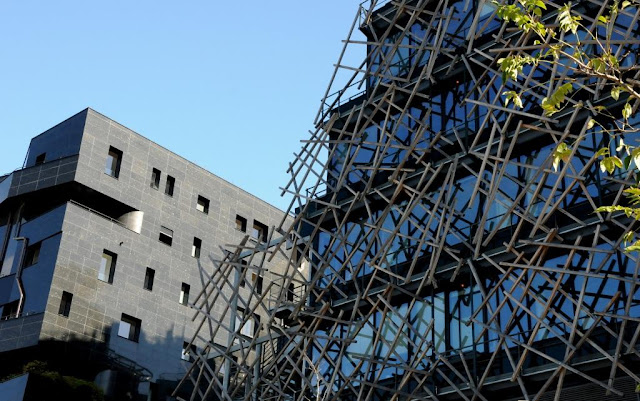 bnf tolbiac, architectuur parijs, Francis Soler, Frédéric Borel, Norman Foster, architectuurwandeling in het 13e arrondissement parijs, ZAC rive gauche