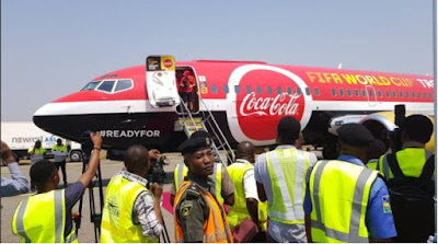 Original FIFA World Cup Trophy Finally Lands In Abuja