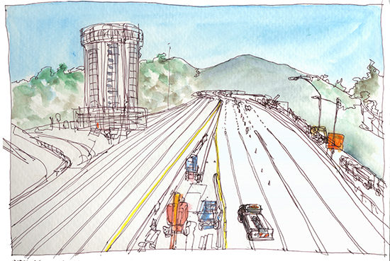 Sketch of the Week: A Highway with No One on It | Shiho