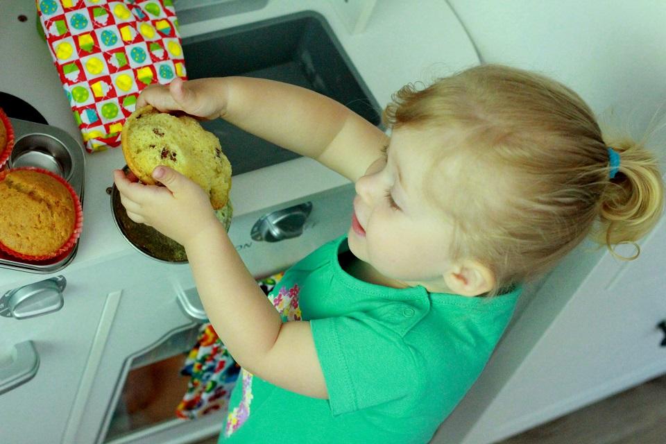 Muffinki waniliowe z rodzynkami