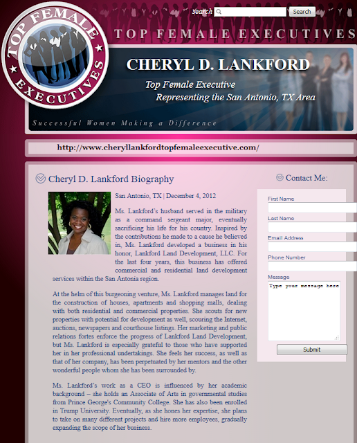 Cheryl Lankford professional website Trump University Democratic National Convention speaker