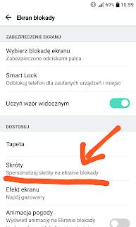 LG G5 ustawienia ekran blokady