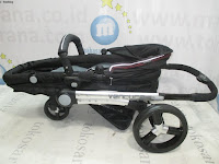 BABYELLE BS-S900 Ventura 3-Wheeler LightWeight Baby Stroller with Convertible Seat