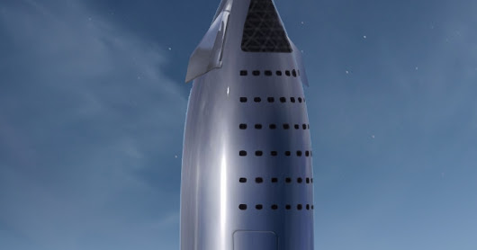 Full-scale SpaceX prototype stainless steel Starship