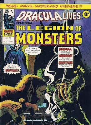 Marvel UK, Dracula Lives #74