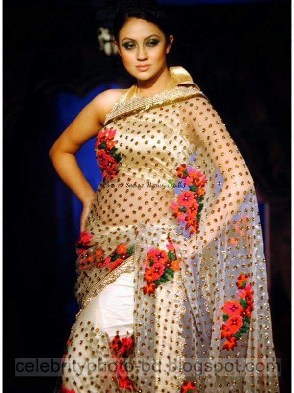 Model Dilruba Yasmeen Ruhee's Unseen Hot Photos Collection In Western Transparent Saree 2014