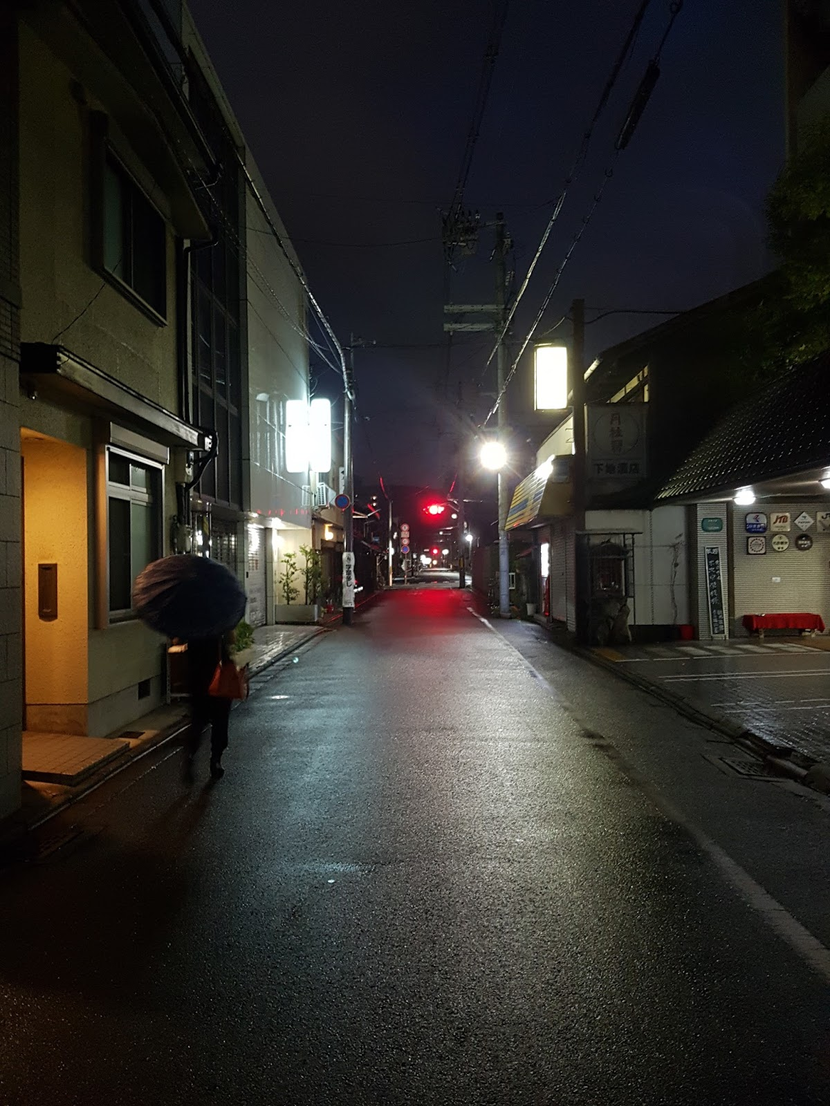 Kyoto backstreets at night