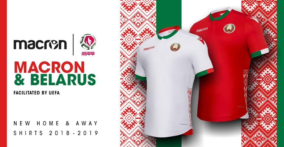 df0a20cca Macron e la Federazione Calcio della Bielorussia hanno presentato le nuove  maglie della Nazionale, kit realizzato all'interno del più ampio accordo ...
