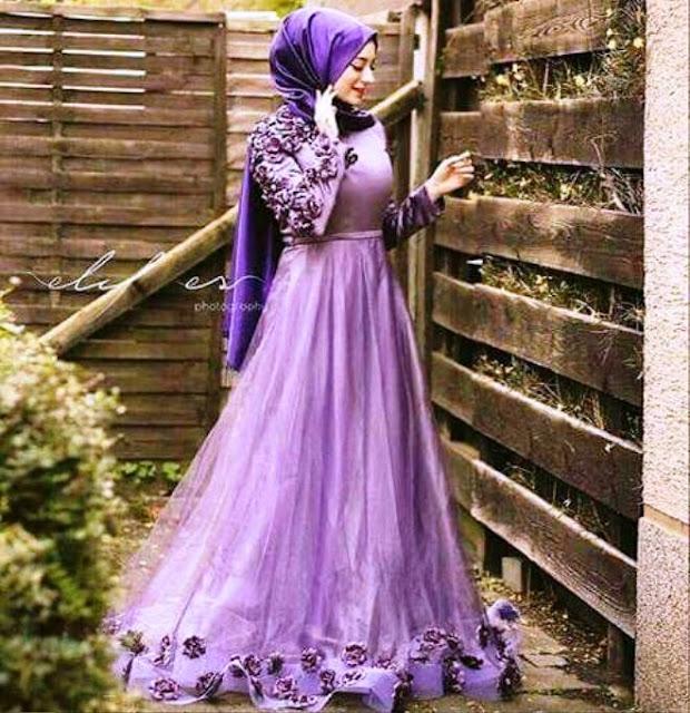Inspirasi Gaun Muslimah Cantik dan Trendy 2001613