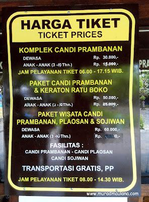 Harga Paket Tiket Wisata Candi Prambanan