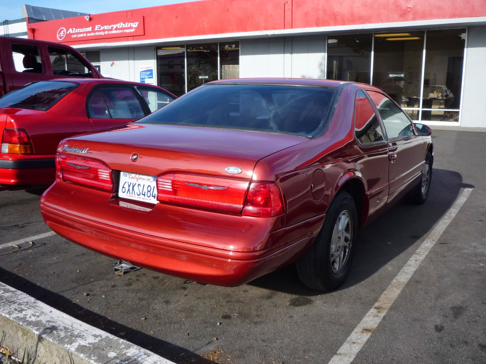 1996 Ford Thunderbird after auto body repairs & paint at Almost Everything Auto Body
